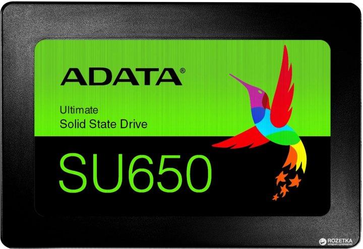 "ADATA Ultimate SU650 960GB 2.5"" SATA III 3D NAND TLC (ASU650SS-960GT-R) - зображення 1"