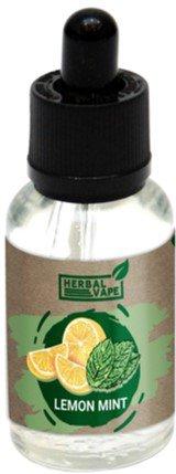 Рідина для електронних сигарет Herbal Vape Lemon Mint 0 мг 30 мл (Лимон + м'ята) (HV-LM-30) - зображення 1
