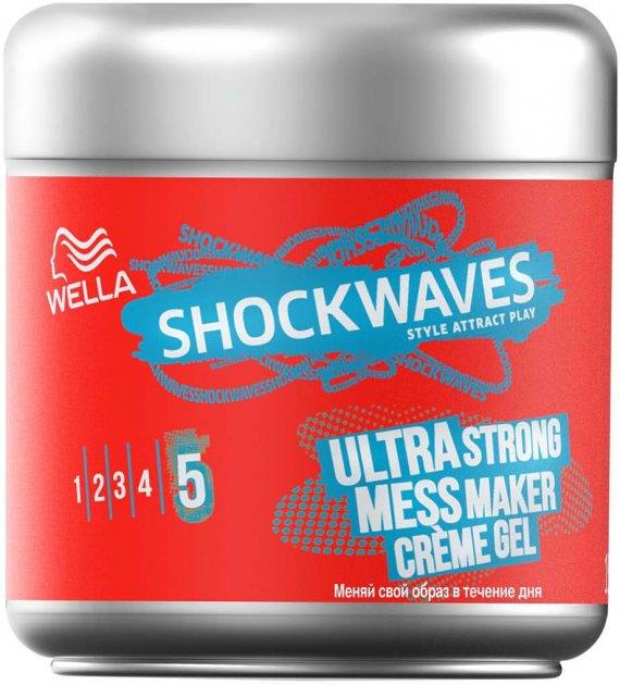 Крем-гель для волосся Wella Shockwaves суперсильної фіксації 150 мл (3614226254269) - зображення 1