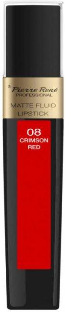 Помада Pierre Rene жидкая Matte Fluid 08 Crimson Red 6 мл (3700467827918) - изображение 1