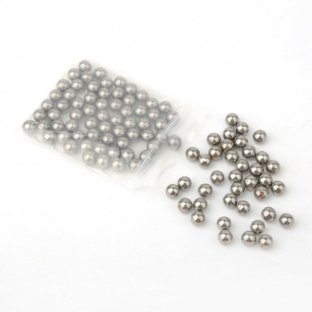 Металеві кульки DEXT для рогатки 8 мм сталь 50шт (OK2213820320) - зображення 1