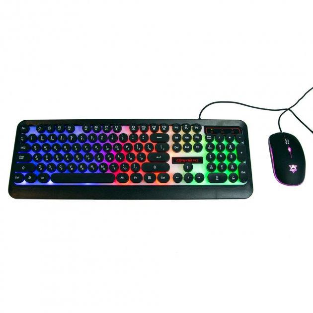 Клавіатура для ігр з RGB-підсвіткою + мишка HK3970, ігровий набір (VS7003633) - зображення 1
