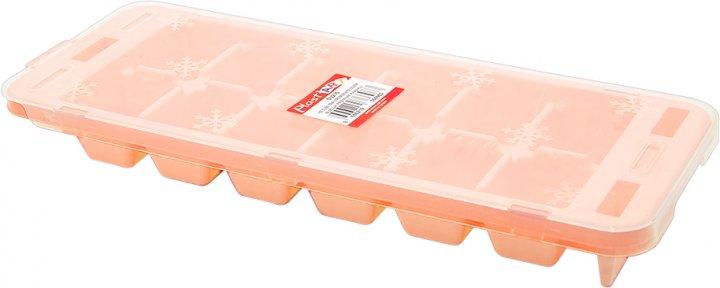Форма для льда Irak Plastik Premıum с крышкой Оранжевая SU-215 (5973kmd) - изображение 1