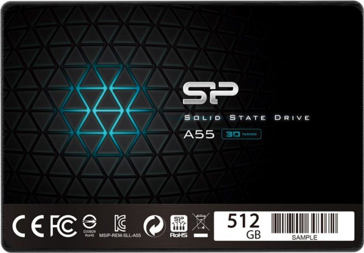 "Silicon Power A55 512GB 2.5"" SATAIII TLC (SP512GBSS3A55S25) - зображення 1"