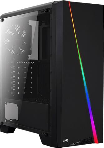 Корпус Aerocool Cylon BG RGB Tempered Glass Black - зображення 1