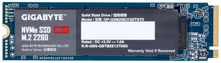 Gigabyte NVMe SSD 1TB M. 2 2280 (GP-GSM2NE3100TNTD) - зображення 1