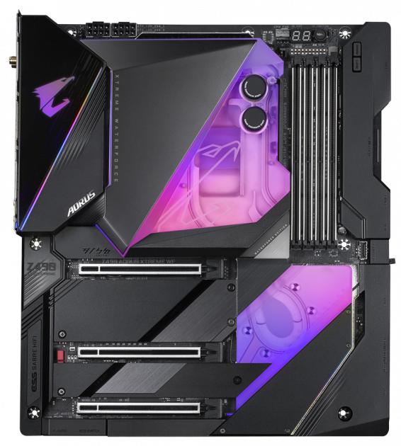 Материнська плата Gigabyte Z490 Aorus Xtreme Waterforce (s1200, Intel Z490, PCI-Ex16) - зображення 1