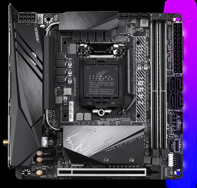 Материнская плата Gigabyte Z490I Aorus Ultra (s1200, Intel Z490, PCI-Ex16) - изображение 1