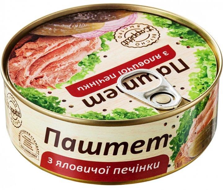 Паштет L'appetit из говяжьей печени 240 г (4820177070042) - изображение 1