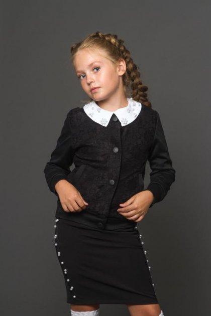 Кофта для дівчинки, чорна, LARSY, 128 - зображення 1