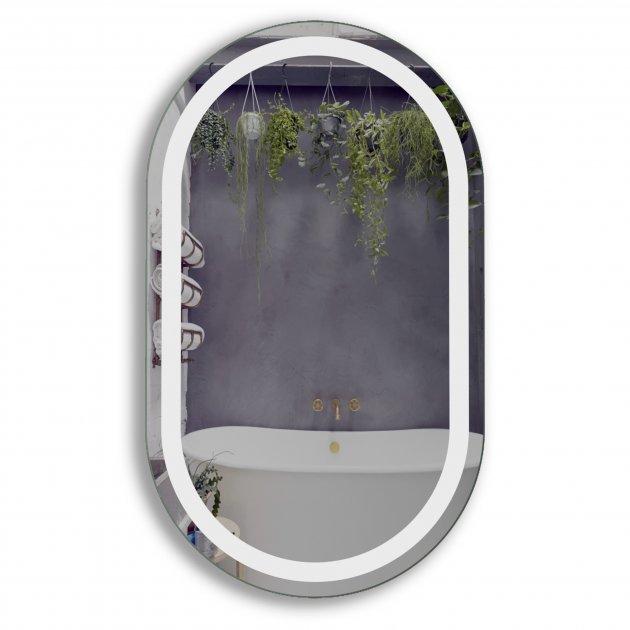 Зеркало в ванную с LED-подсветкой StudioGlass BLOSSOM 90х50 см - изображение 1