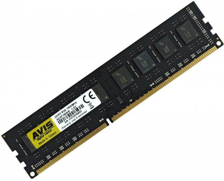 Оперативна пам'ять DDR3-1600 8Gb PC3-12800 AVIS AD3F1600/8 8192MB (770008525) - зображення 1