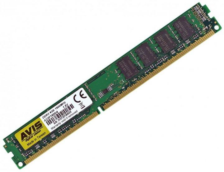 Оперативная память DDR3-1600 4Gb PC3-12800 AVIS AD3F1600/4 4096MB (770008513) - изображение 1