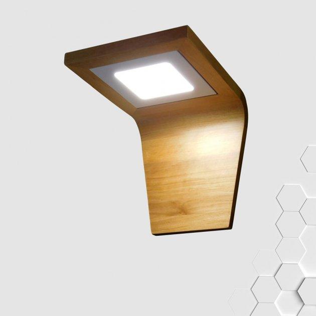 Світлодіодне настінне бра COBRA LED 6W натуральне дерево - зображення 1