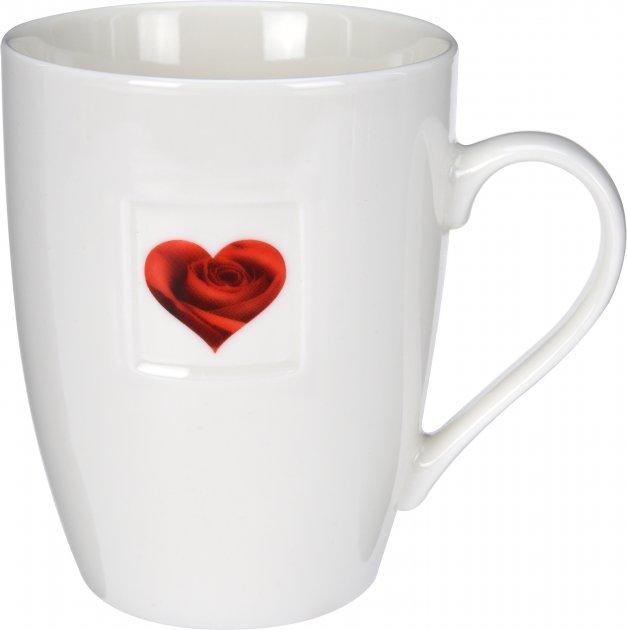 Чашка Excellent Houseware 350 мл (Q75900040_heart_rose) - изображение 1