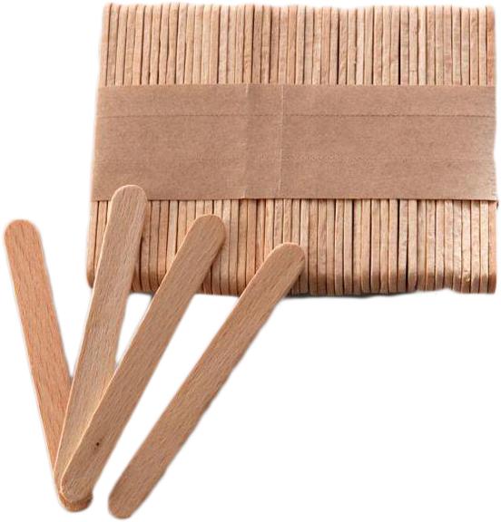 Шпатель деревянный Danins 93х10х2 мм 100 шт (4820191092914) - изображение 1