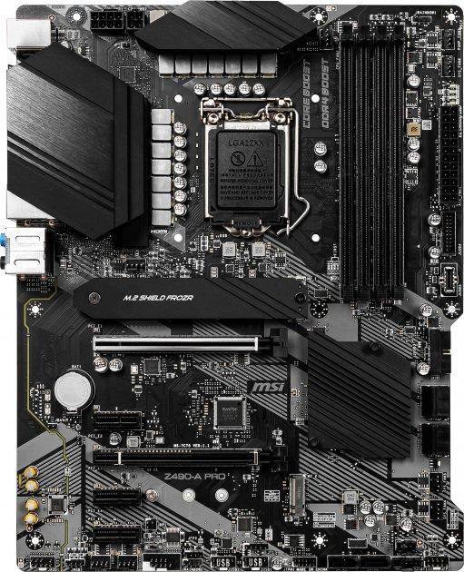 Материнська плата MSI Z490-A Pro (s1200, Intel Z490, PCI-Ex16) - зображення 1
