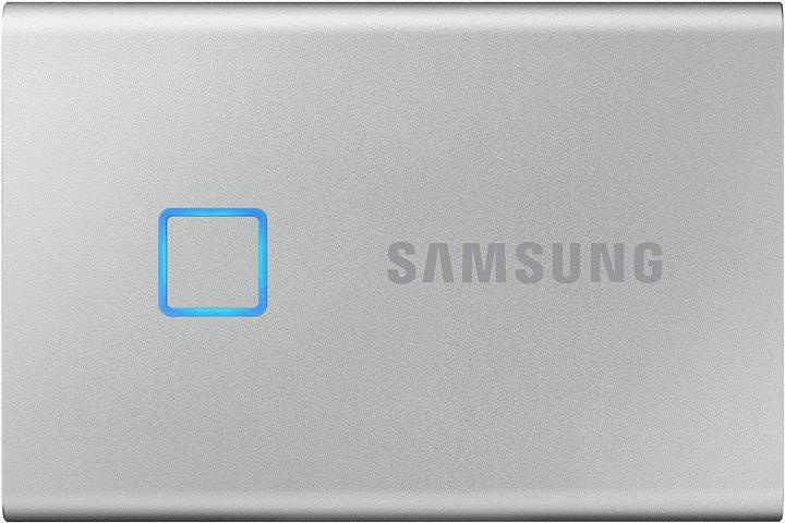 Samsung Portable SSD T7 TOUCH 500GB USB 3.2 Type-C (MU-PC500S/WW) External Silver - зображення 1