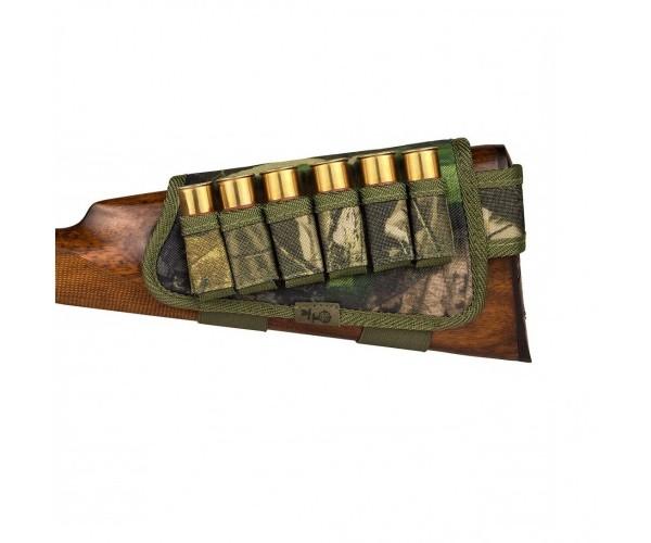 Патронташ на Приклад з Поліестеру Bronzedog Лівша 6 патронів калібр 12/16 Зелений (8106) - зображення 1