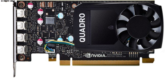 PNY PCI-Ex NVIDIA Quadro P620V2 2GB GDDR3 (128bit) (1354/4012) (4 x miniDisplayPort) (VCQP620V2-SB) - изображение 1