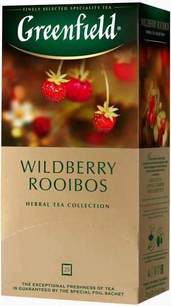 Чай пакетированный Greenfield Wildberry Rooibos 25 x 1.5 г (4823096805832) - изображение 1