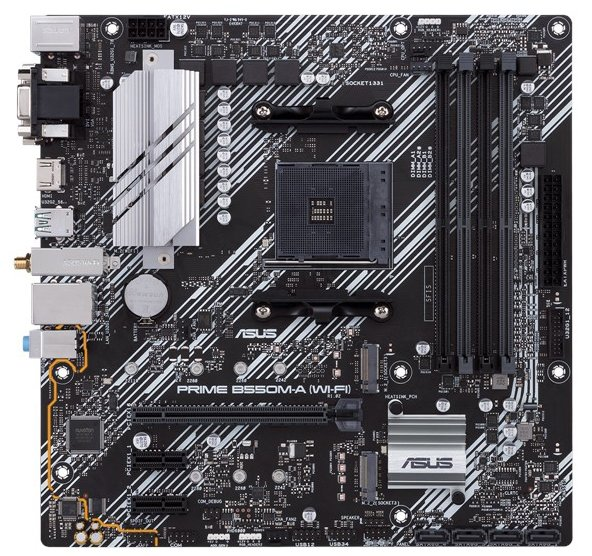 Материнская плата Asus Prime B550M-A (Wi-Fi) (sAM4, AMD B550, PCI-Ex16) - изображение 1