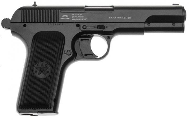 Пневматичний пістолет Gletcher TT NBB Тульський Токарєв ТТ рухомий затвор газобалонний CO2 120 м/с - зображення 1