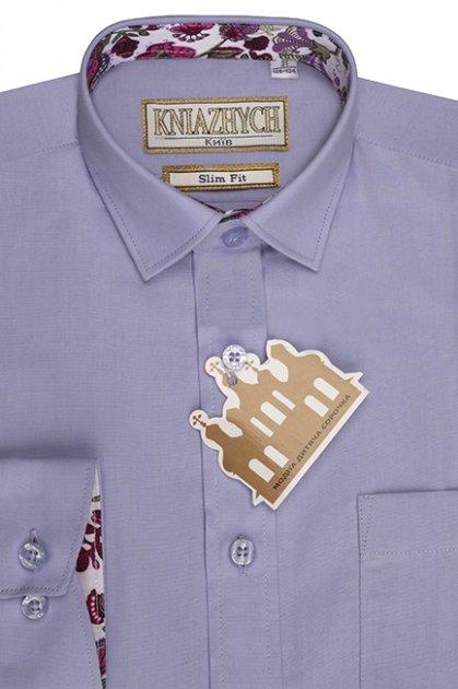 Рубашка Княжич 128-134/31 Лиловый Lily 82 slim - изображение 1