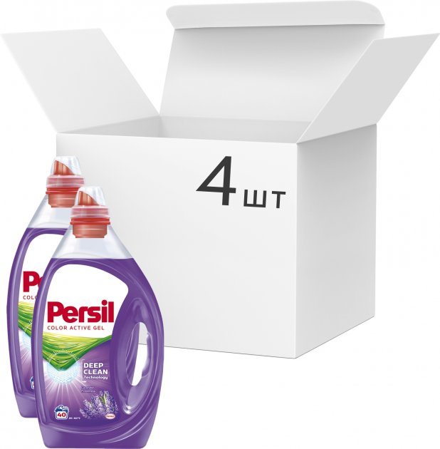 Упаковка геля для стирки Persil Color Deep Clean Lavender 2 л х 4 шт (9000101315745) - изображение 1