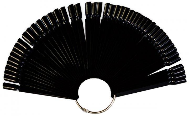 Палитра для нанесения лаков Avenir Cosmetics на кольце Черная (2009610009272) - изображение 1