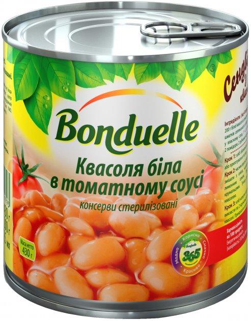 Фасоль Bonduelle Белая в томатном соусе 430 г (3083680001793) - изображение 1