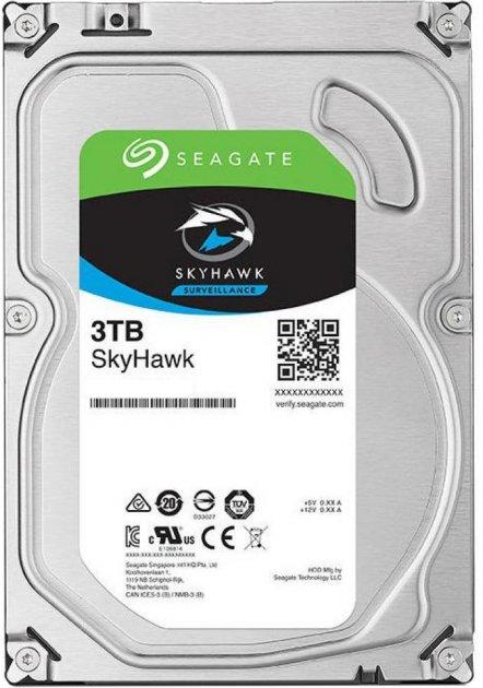 Жорсткий диск Seagate SkyHawk HDD 3TB 5400rpm 256MB ST3000VX009 3.5 SATAIII - зображення 1