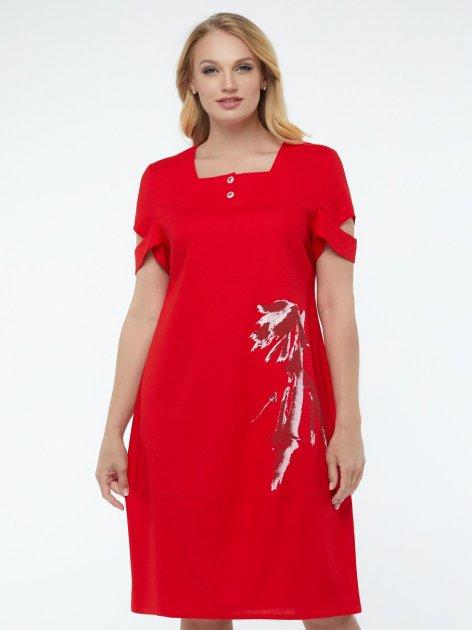 Платье All Posa Карина 100139 54 Красное - изображение 1