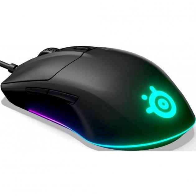 Мишка SteelSeries Rival 3 Black (62513) - зображення 1