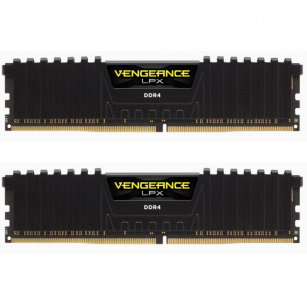 Модуль пам'яті для комп'ютера DDR4 16GB (2x8GB) 4133 MHz Vengeance LPX Black CORSAIR (CMK16GX4M2K4133C19) - зображення 1