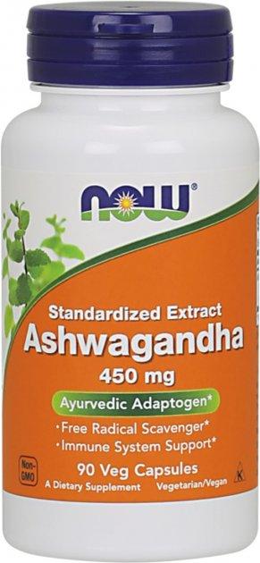 Натуральная добавка Now Foods Ашваганда 450 мг 90 гелевых капсул (733739046031)