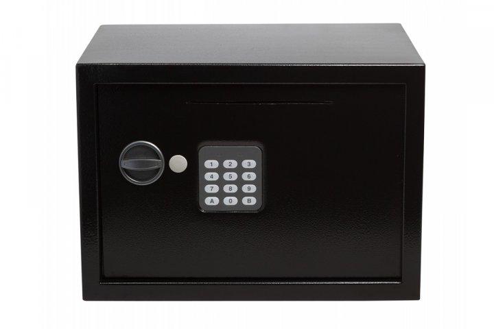 Офісний сейф GUTE ЯМХ 25D з прорізом для грошей Чорний (070221) - зображення 1