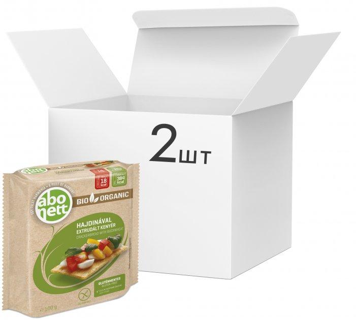 Упаковка органических безглютеновых хлебцов Abonett из гречневой муки 100 г х 2 шт (5997148703533) - изображение 1