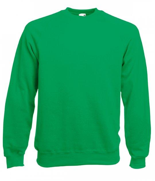 Реглан Fruit of the Loom Classic raglan sweat XL Яскраво-зелений (062216047XL) - зображення 1