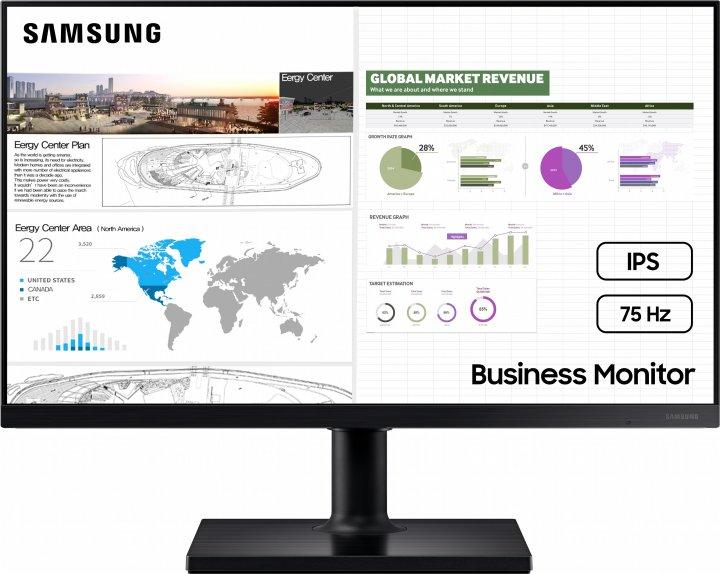 """Монітор 24"""" Samsung LF24T450 Black (LF24T450FQIXCI) - зображення 1"""