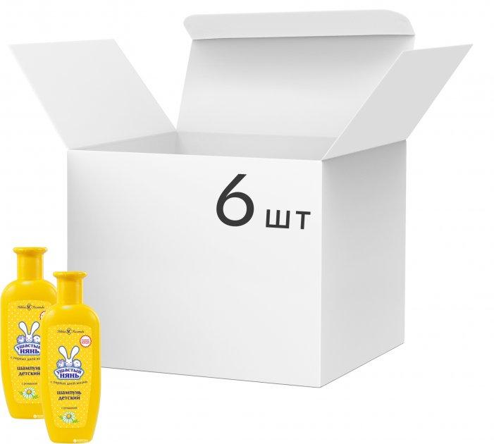 Упаковка детского шампуня Ушастый нянь с ромашкой 200 мл х 6 шт (ROZ6400050017) - изображение 1