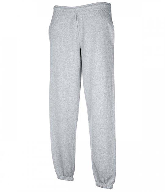 Спортивные брюки Fruit of the Loom Classic elasticated cuff jog pants XL Серый (064026094XL) - изображение 1