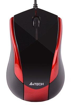 Мышь A4Tech N-400-2 USB Red/Black (4711421865395) - изображение 1