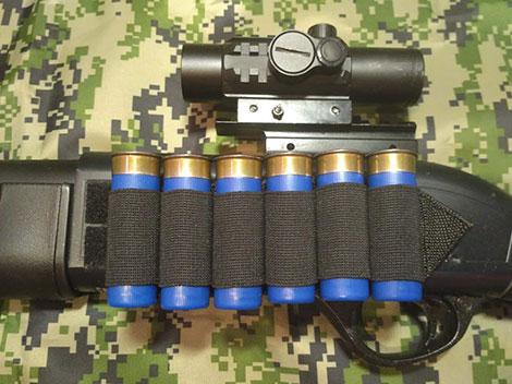 СайдСеддл (SideSaddle) BML – патронташ на ствольну коробку для дробовика 12 калібру з м'яких матеріалів (тканина) - на 4,5,6,7 або 8 патронів (на вибір клієнта) (77771) - зображення 1