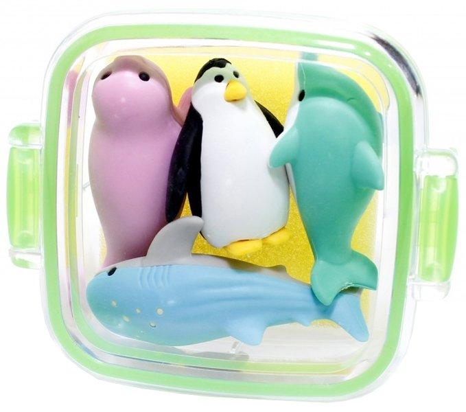 Набор ластиков Iwako для карандаша Животные подводного мира 4 шт (ER-981202) (4991685981202) - изображение 1