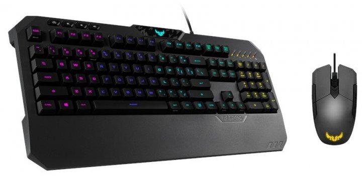Комплект (клавіатура + мишь) Asus TUF Gaming Combo Black USB підсвічування (90MP01A0-B0MA00) - зображення 1