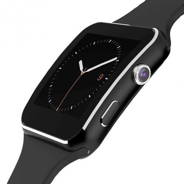 Смарт годинник Smart Watch Х6 Sport Bluetooth Чорні - зображення 1