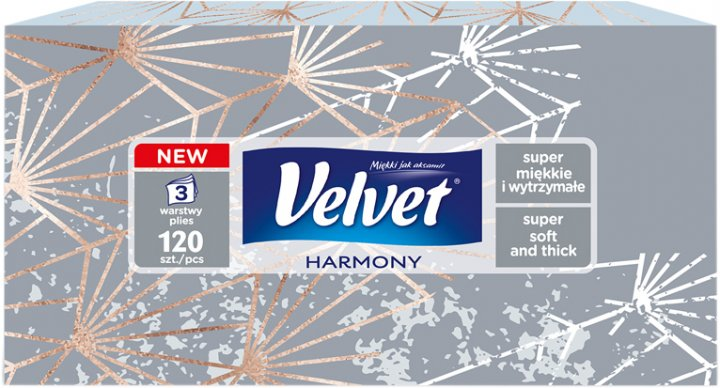 Салфетки Velvet Harmony трехслойные 120 шт (5901478005014) - изображение 1