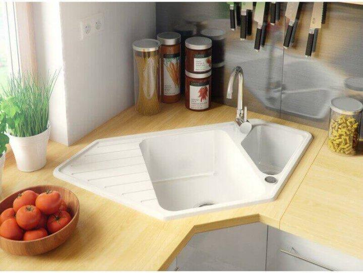 Гранітна мийка Primagran Монако Біла + сифон - зображення 1