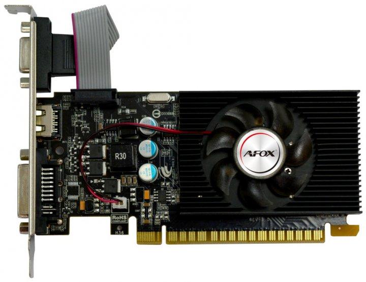 AFOX PCI-Ex GeForce GT220 1GB DDR3 (128bit) (668/1308) (DVI, VGA, HDMI) (AF220-1024D3L2) - изображение 1